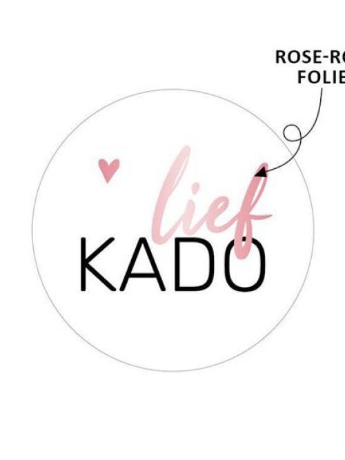 """10 stuks Sticker """"Lief kado"""""""
