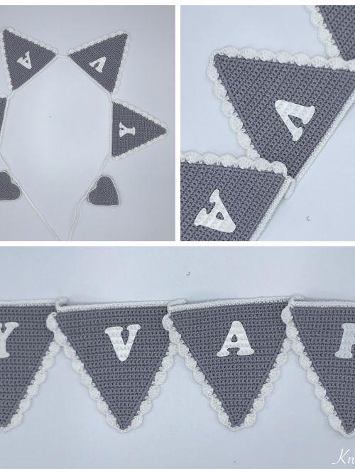 Vlaggenlijn grijs/wit