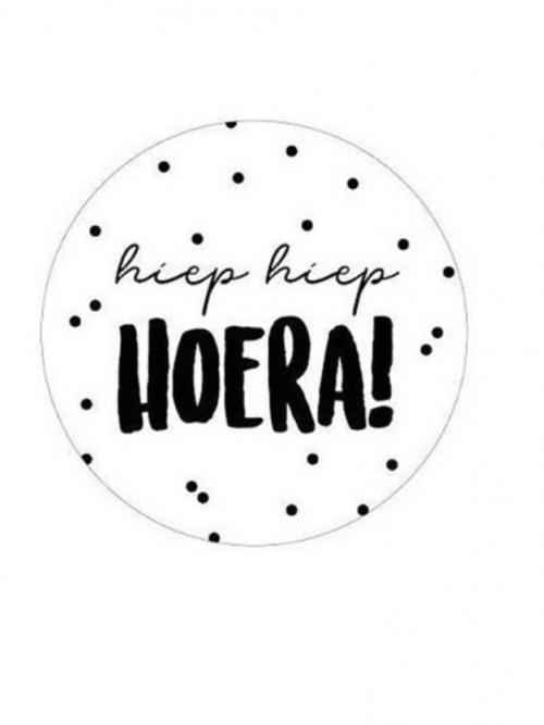 "10 stuks Sticker "" Hoera """