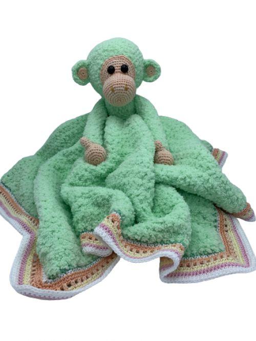 Knuffeldeken aap