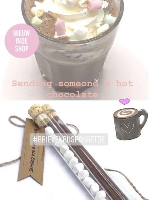 """Brievenbusgelukje """" hot chocolate warm mug """""""