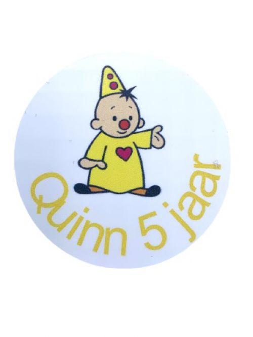 Verjaardagssticker gepersonaliseerd Bumba (15 st)