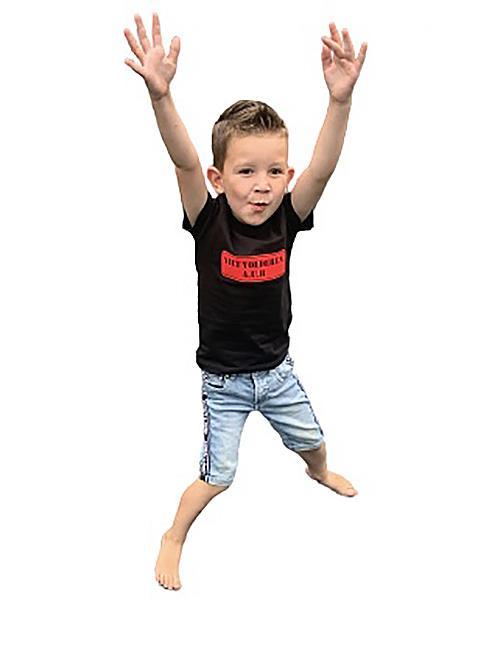 Kinder T-shirt NIET VOEDEREN zwart