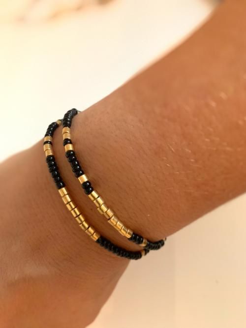 Dubbele armband Miyuki Gold Galvanized