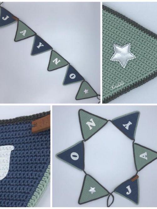 Vlaggenlijn groen/donkerblauwgrijs